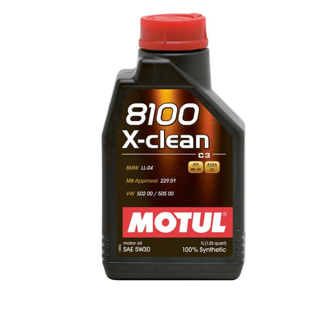 Oleo De Motor 5W30 Motul 8100 X-clean C3 Sintético 1lt em até 6x sem juros