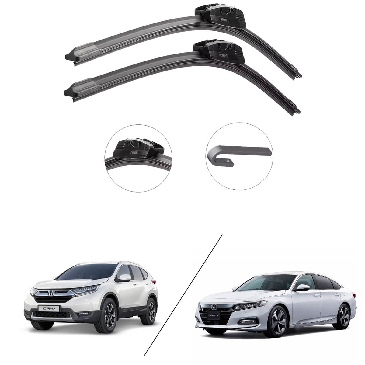 Par de Palheta Original Bosch Honda Accord e CR-V Aerofit