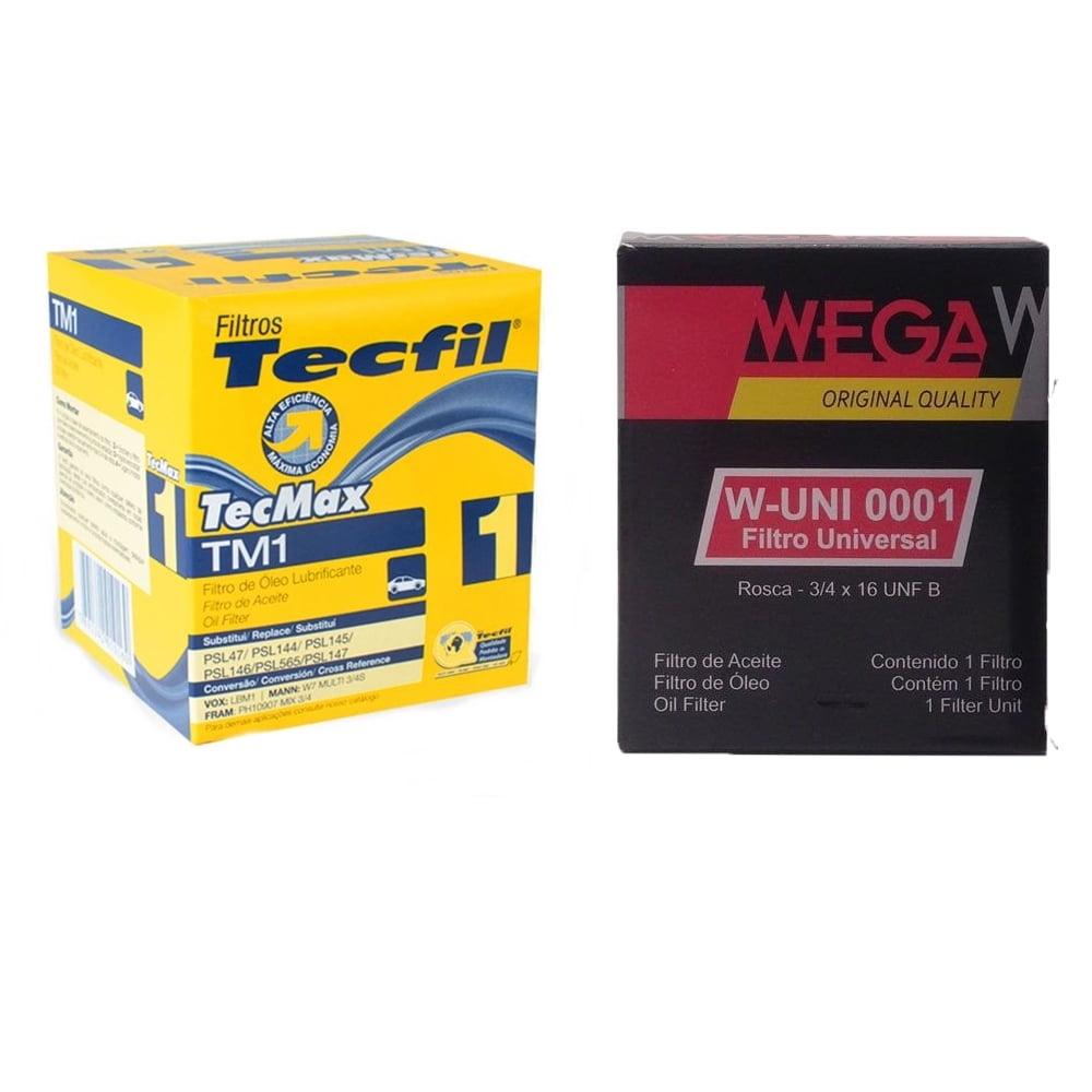 Filtro De Motor Tecfil TM1 Wega W-UNI001 Filtro Universal  em até 6x sem juros
