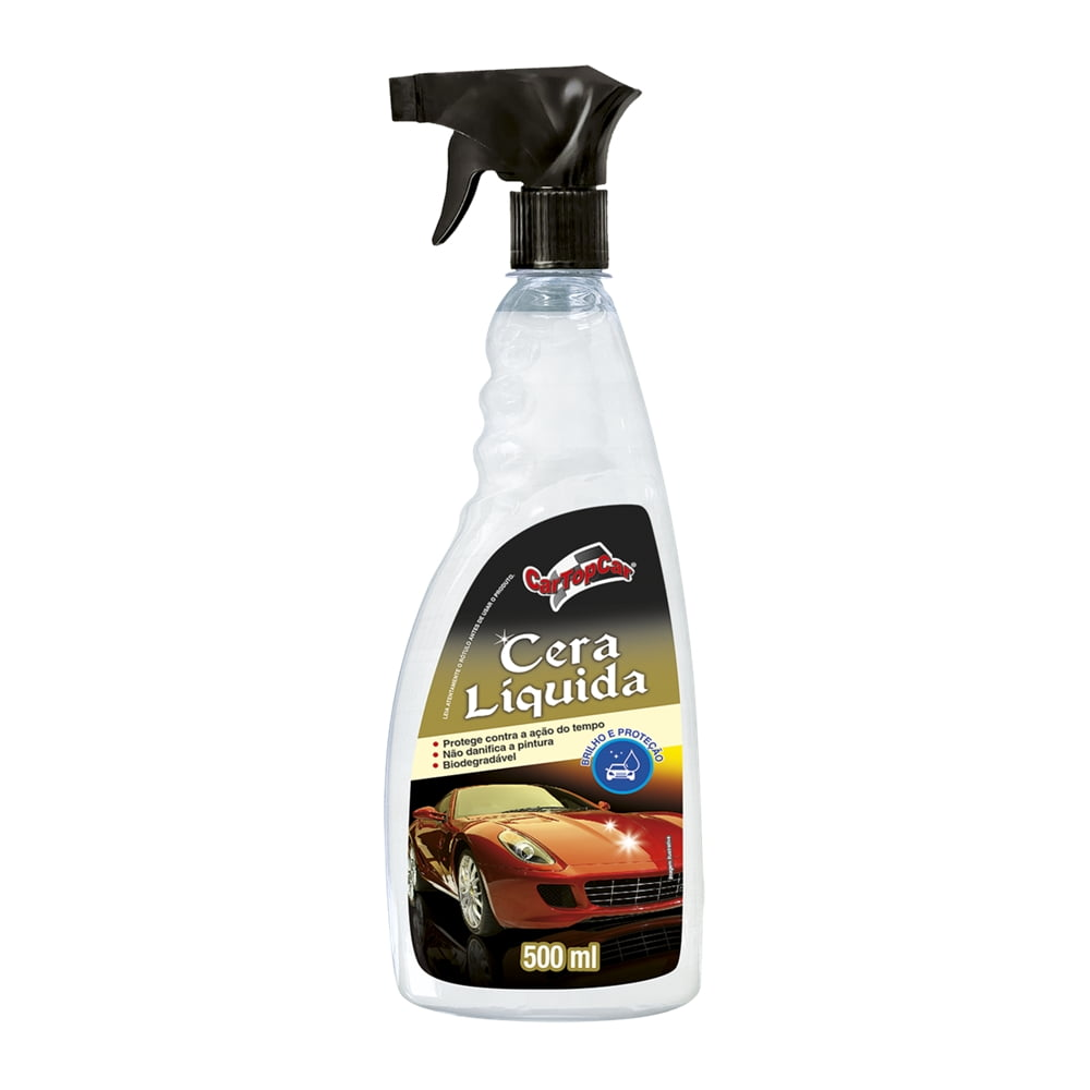 Limpeza Automotiva Cera Liquida CarTopCar 500ML em até 6x sem juros