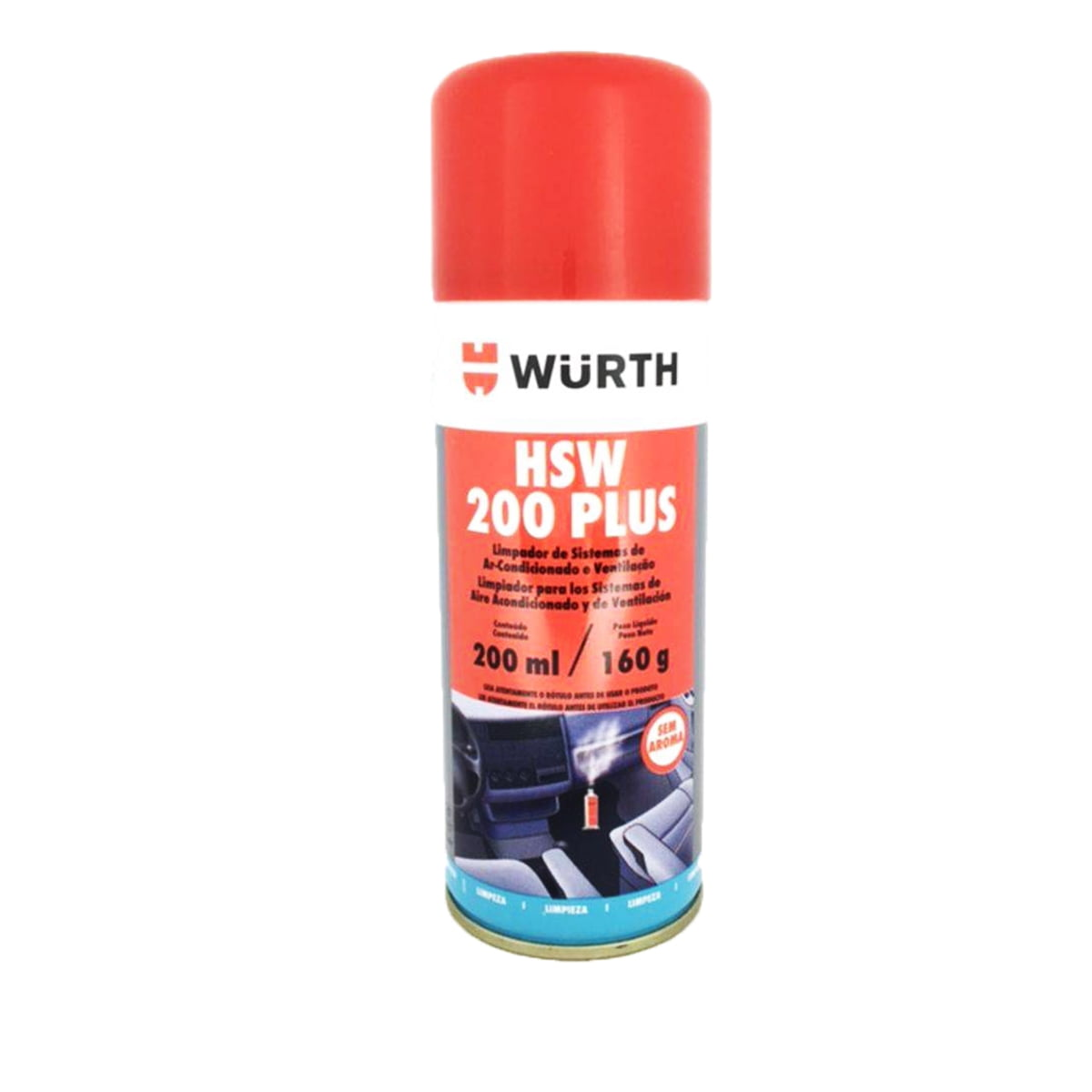 Higienizador De Ar Condicionado Wurth Sem Aroma Granada Hsw