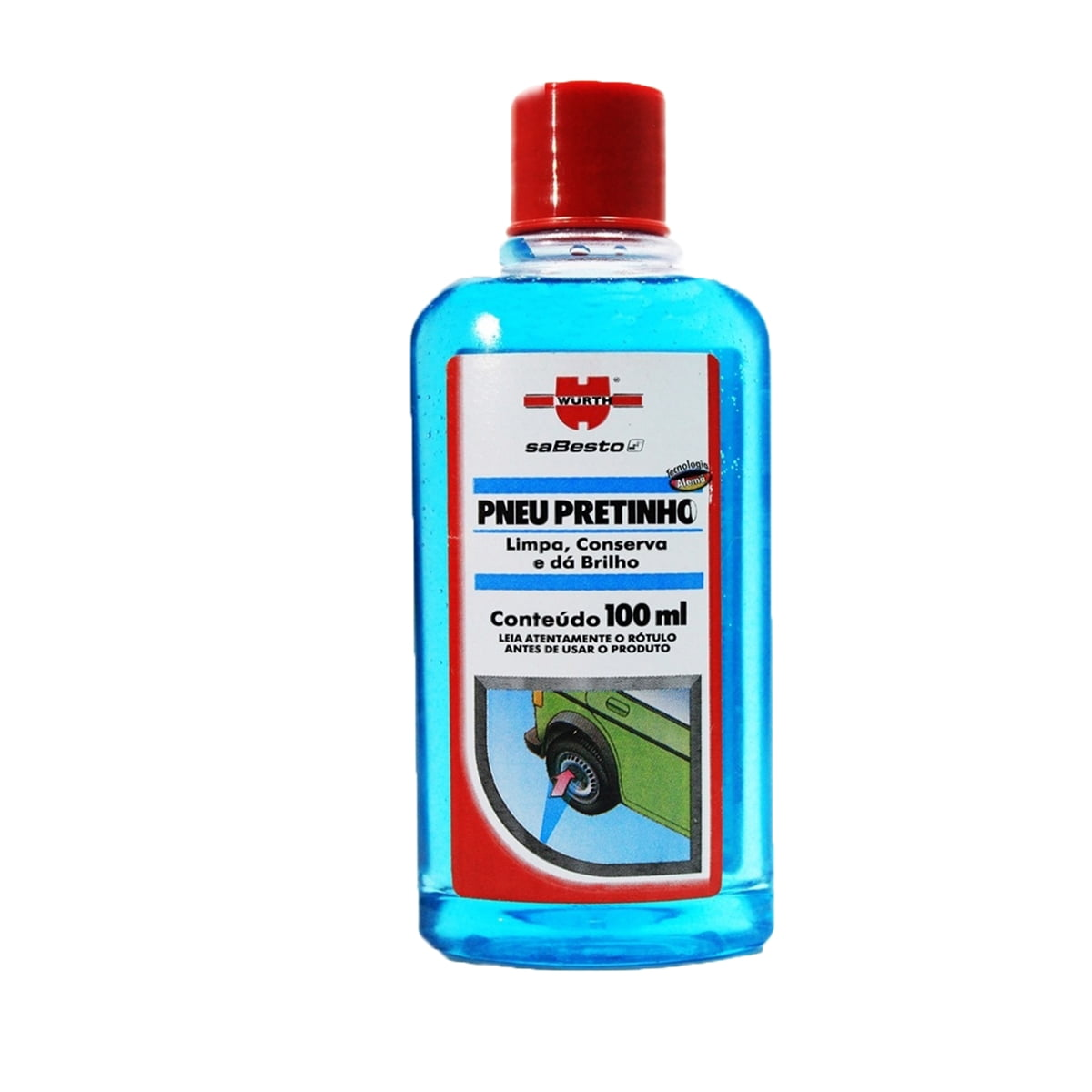 Limpeza Automotiva Pneu Pretinho Liquido 100ML em até 6x sem juros