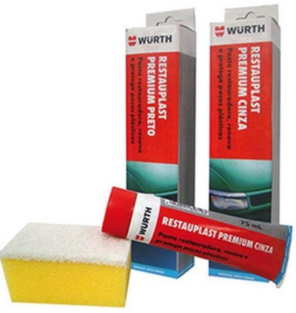 Limpeza Automotiva Restaurador De Plástico Restauplast Premium Cinza Wurth 75ml