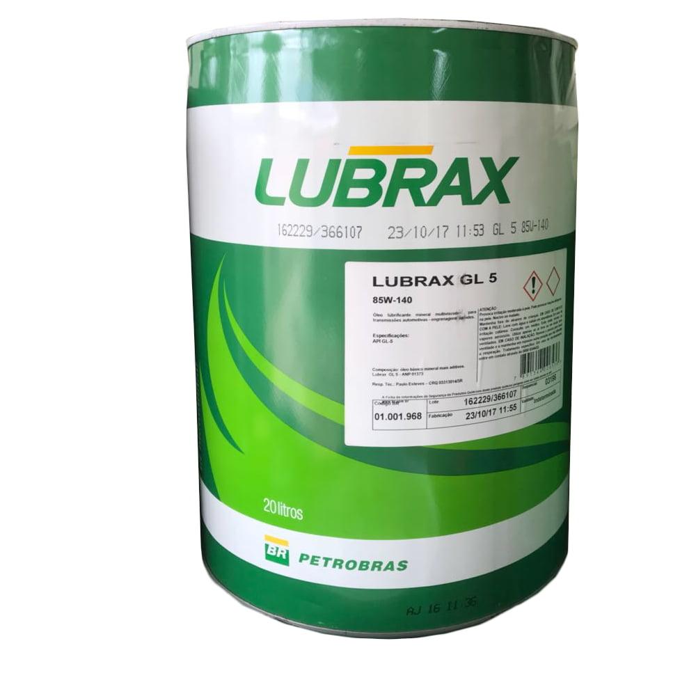 Oleo De Aplicação Agricola Lubrax GL-5 85w140 20lt em até 6x sem juros