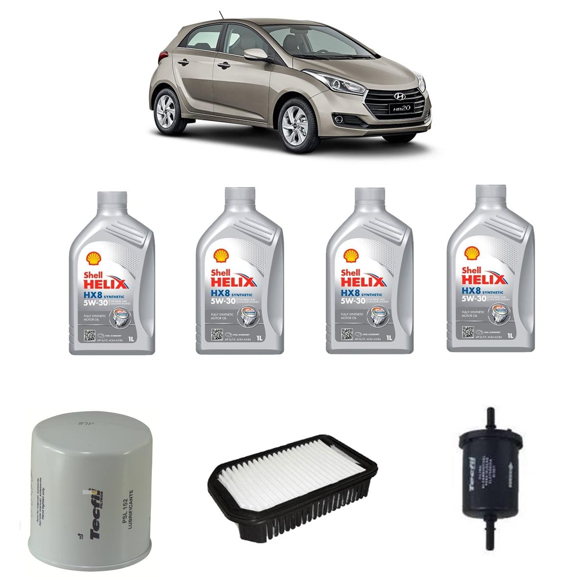 Troca De Oleo Hyundai Hb20 1.6 Oleo Shell 5w30 Sintético 1lt