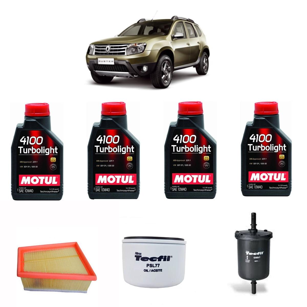 Troca de Oleo Renault Duster 1.6 Motul 4100 10w40  em até 6x sem juros