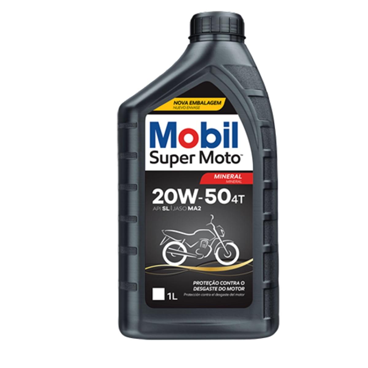 Oleo de Moto Mobil Super Moto 20w50 Mineral 4t 1lt em até 6x sem juros