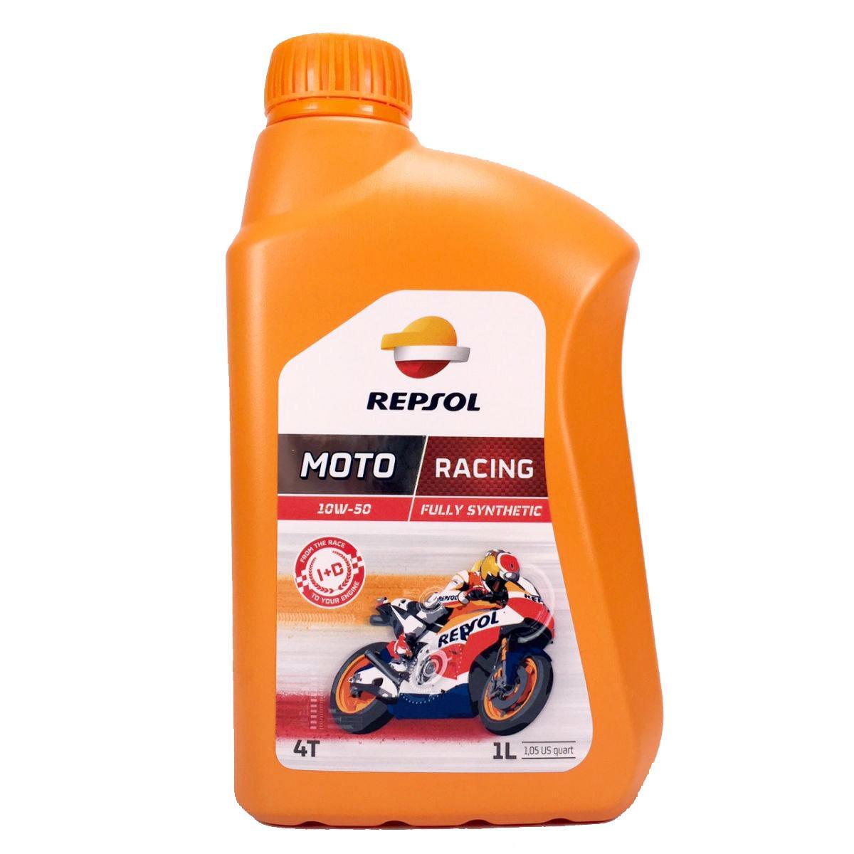 Oleo Repsol RP Moto Racing 10w50 4T Sinético 1lt em até 6x sem juros