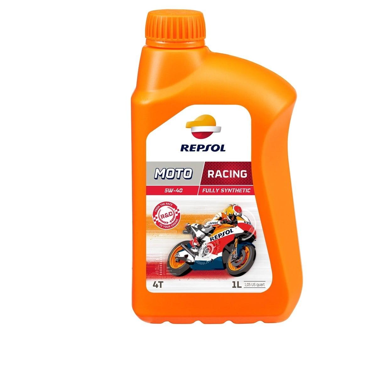 Oleo Repsol Moto Racing 5w40 4T Sintético 1lt em até 6x sem juros