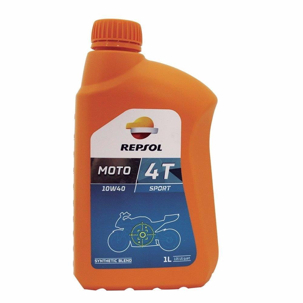Oleo Repsol Moto Sport 10w40 4T Semi-sintético 1lt em até 6x sem juros