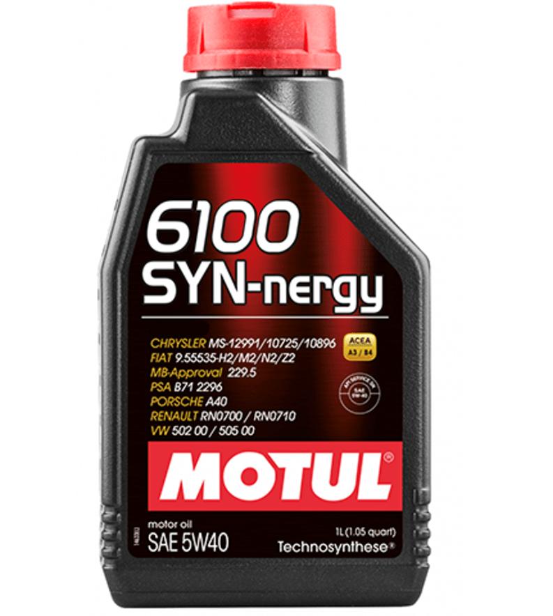 Oleo De Motor 5w40 Motul 6100 SYN-nergy Api Sn A3/B4 sintético 1L