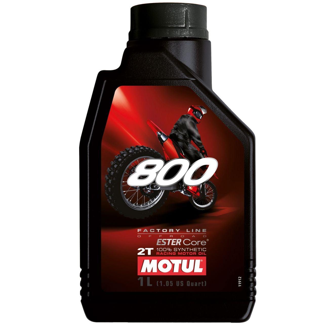 Óleo De Moto Motul 800 Factory Line Off Road 2T Sintético 1lt