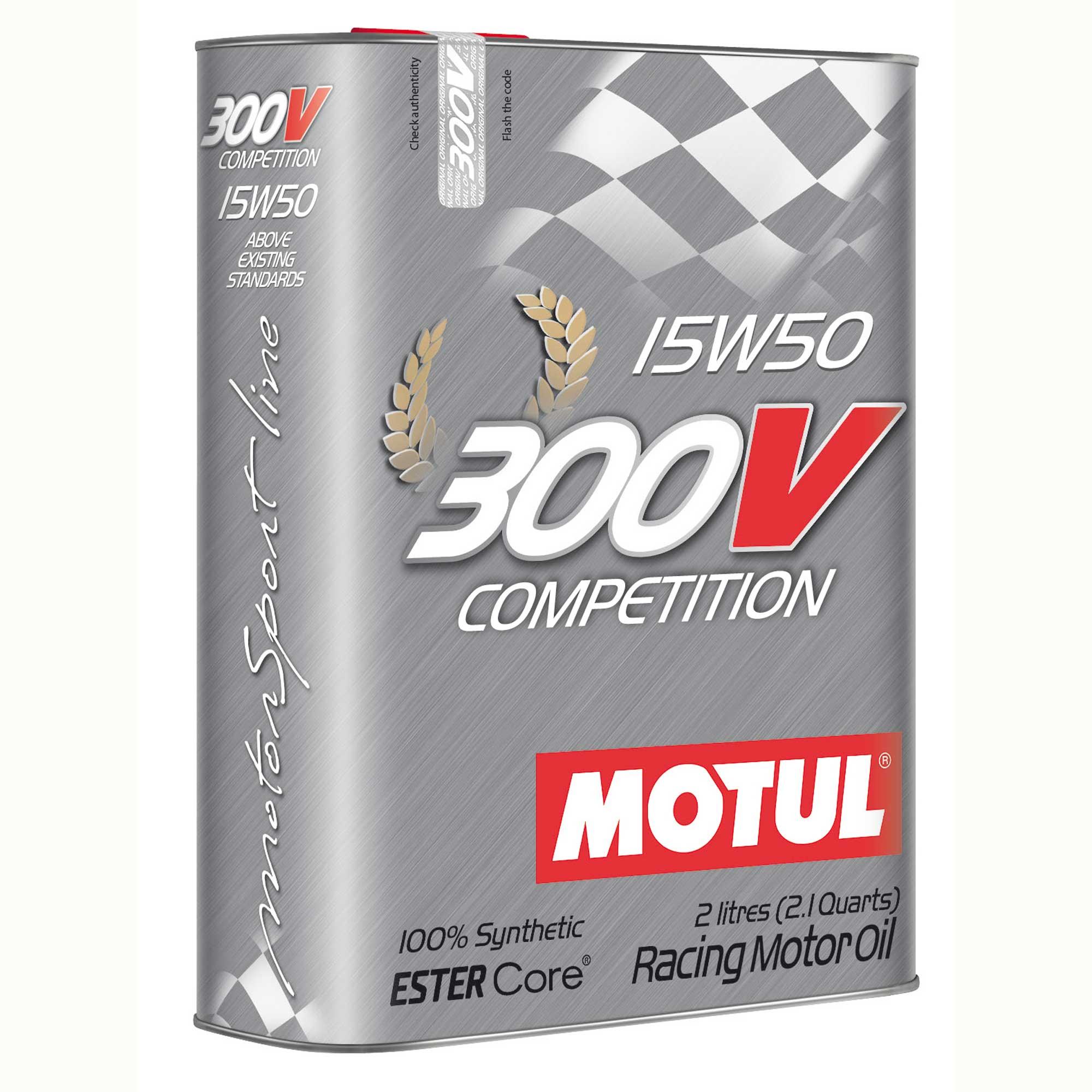 Motul 300v 15w50 Competition 2 Lts 100% Sintético