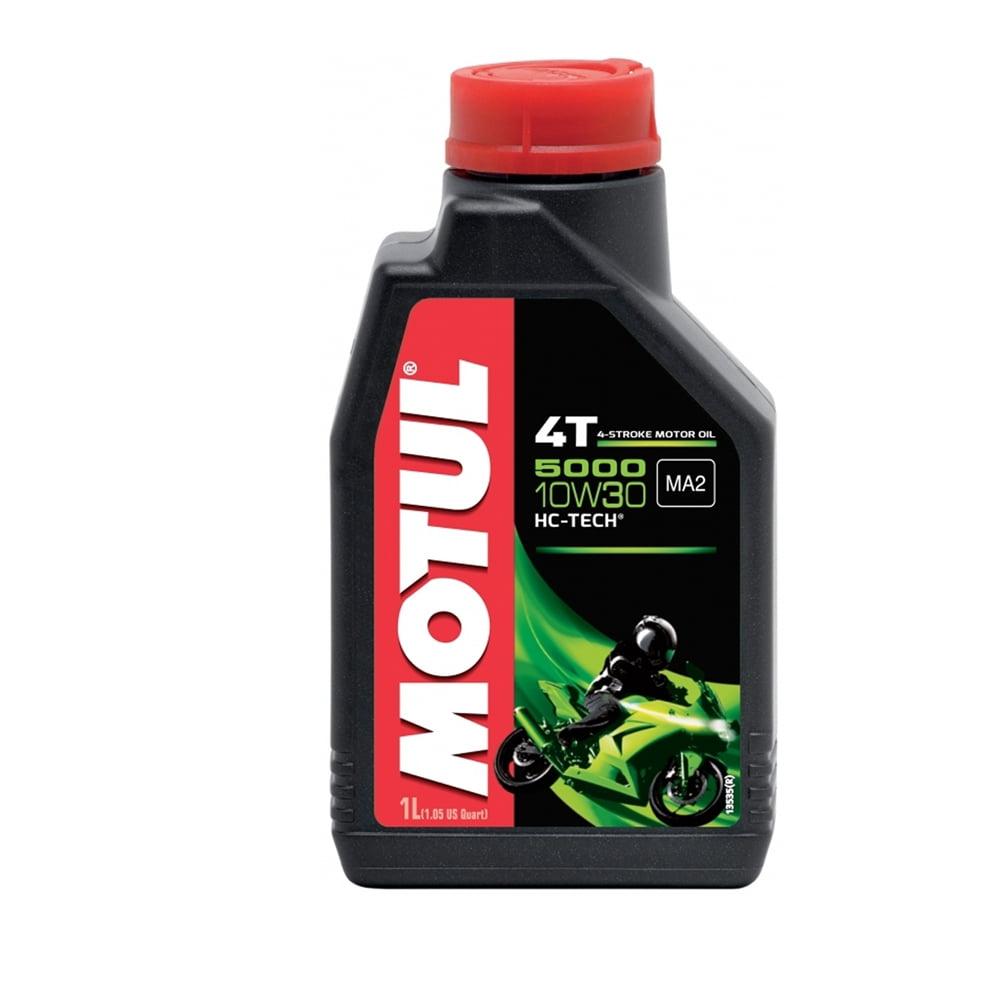 Oleo De Moto 10w30 Motul 5000 4T Hc-Tech Semissintético 1lt em até 6x sem juros