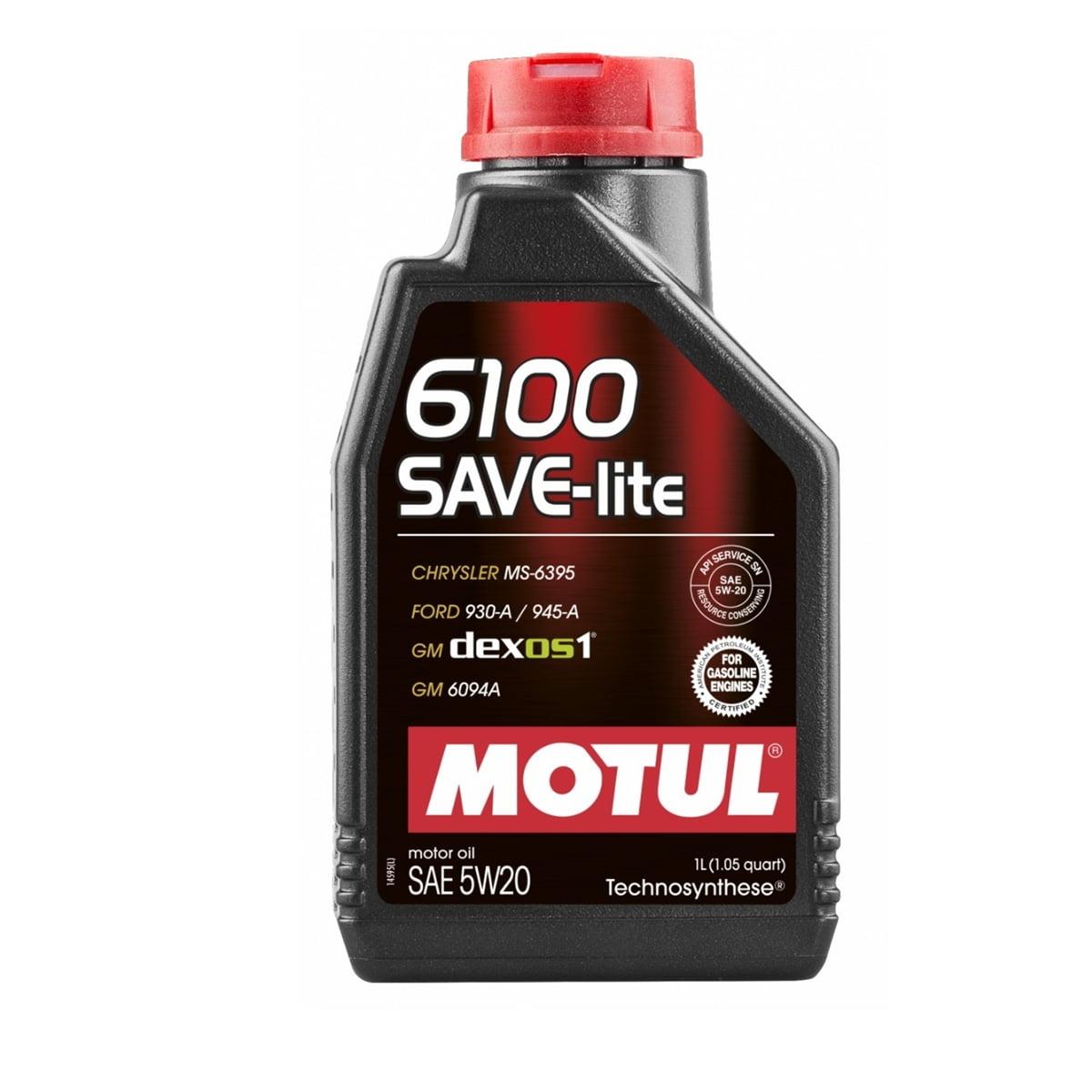 Óleo De Motor 5w20 Motul 6100 Save-lite Api Sn Gf-5 1L