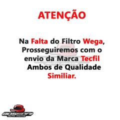 Filtro de Ar Civic 1.8 Wega JFA0429 / Tecfil ARL1034 em até 6x sem juros