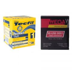Filtro De Motor Tecfil TM1 Wega W-UNI001 Filtro Universal