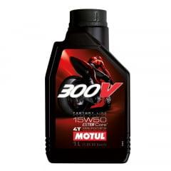 Óleo Motul 300v 15w50 Moto 4t Sintético 1lt