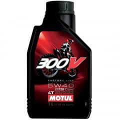 Oleo Motul 300v 5w40 4t Sintético 1lt