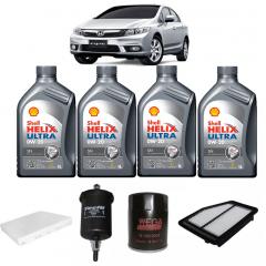 Troca De Oleo New Civic 2013 A 2015 Shell Helix Ultra 0w20