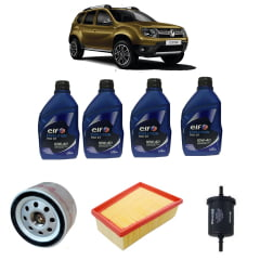 Kit Econômico Troca De Óleo Renault Duster 1.6 Óleo Elf 10w40 1Lt + Filtros