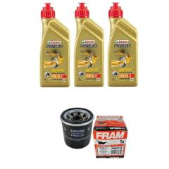 Kit Troca de Oleo Castrol Power 1 15w50 3lt + Filtro Fram PH6017a