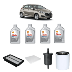 Troca De Oleo Hyundai Hb20 1.0 Oleo Shell 5w30 Sintético