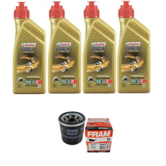 Troca de oleo Castrol Power 1 10w50 4 lts + Filtro Fram Ph6017a