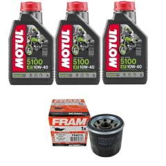 Troca Óleo Motul 5100 10w40 4t 3l + Filtro Fram PH6018