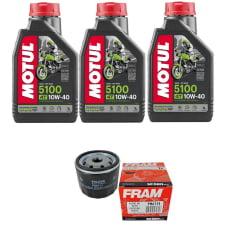 Troca Óleo Motul 5100 10w40 4t 3l + Filtro Fram PH6114
