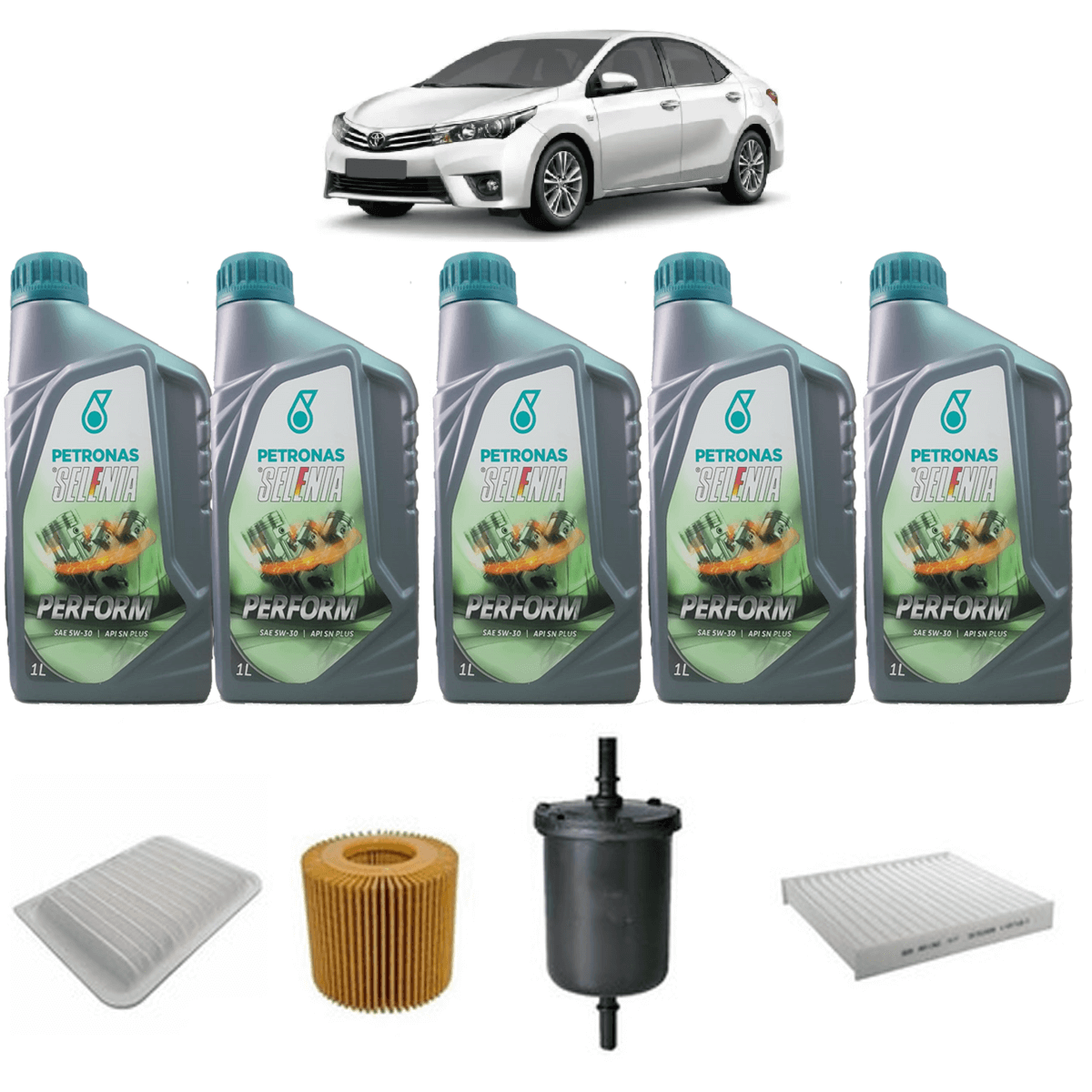 Kit De Filtros E Oleo Corolla 2.0 Xei Xrs Selenia 5w30 em até 6x sem juros