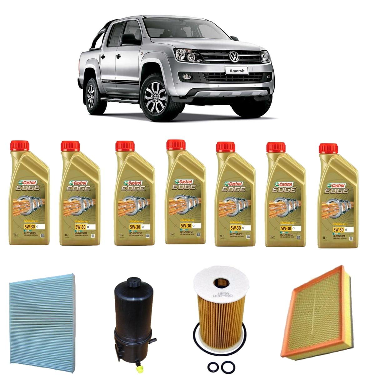 Troca De Oleo Castrol Edge 5w30 Volkswagen Amarok Diesel em até 6x sem juros